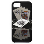 Tarjetas del póker con los microprocesadores iPhone 5 carcasas
