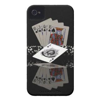 Tarjetas del póker con los microprocesadores iPhone 4 funda