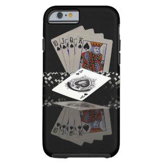 Tarjetas del póker con los microprocesadores funda de iPhone 6 tough