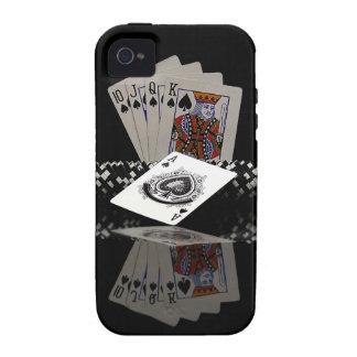 Tarjetas del póker con los microprocesadores Case-Mate iPhone 4 fundas
