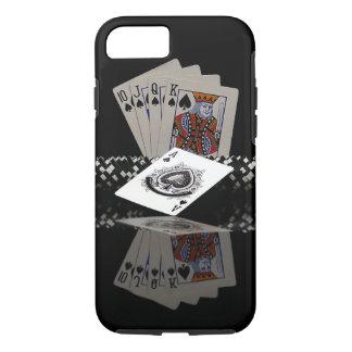 Tarjetas del póker con los microprocesadores funda iPhone 7