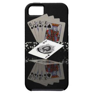Tarjetas del póker con los microprocesadores funda para iPhone SE/5/5s