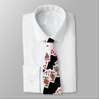 tarjetas del póker corbatas