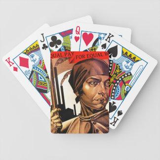Tarjetas del póker de la fábrica de las mujeres de cartas de juego
