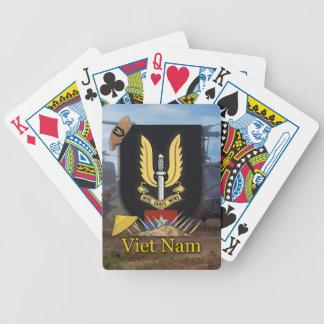 tarjetas del póker de la guerra de Vietnam del ser Baraja De Cartas Bicycle