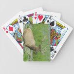 Tarjetas del póker de los alces cartas de juego
