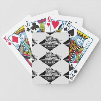 Tarjetas del póker de Streamliner del cruzado del Barajas De Cartas