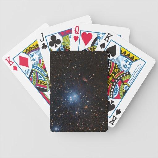 tarjetas del póker del espacio cartas de juego