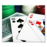 Tarjetas del póker fotografías