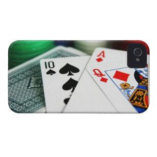 Tarjetas del póker iPhone 4 protector