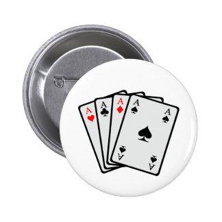 Tarjetas del póker pin