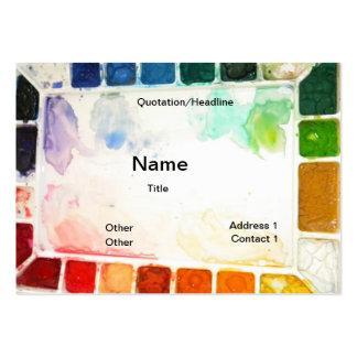 Tarjetas del profesor y del pintor de arte tarjetas de visita grandes