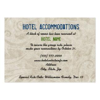 Tarjetas del recinto del alojamiento de hotel del  tarjetas de visita grandes