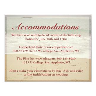 Tarjetas del recinto del boda de playa - playa anuncios