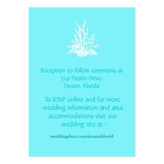 Tarjetas del recinto del boda de playa tarjeta de visita