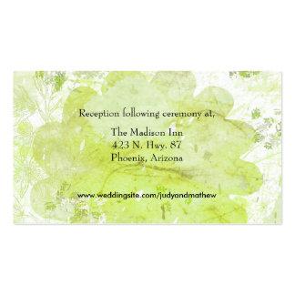 Tarjetas del recinto del boda tarjeta de visita