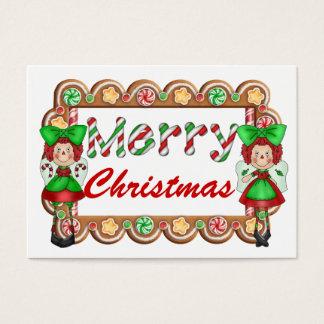 Tarjetas del recinto del navidad - etiquetas SRF Tarjetas De Visita Grandes
