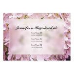 Tarjetas del registro de la fiesta de bienvenida a tarjetas personales