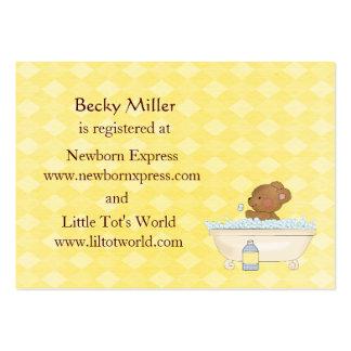 Tarjetas del registro de la fiesta de bienvenida tarjetas de visita grandes