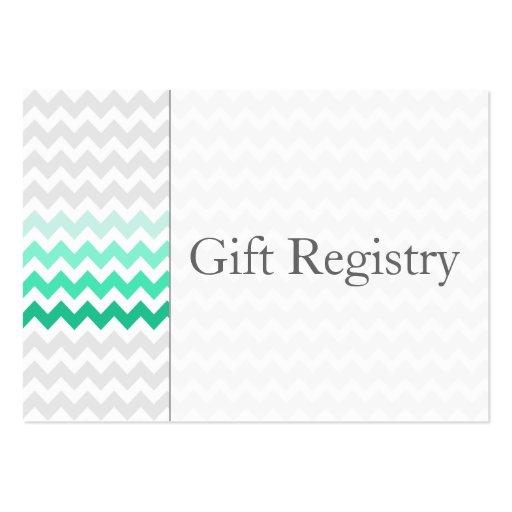 Tarjetas del registro de regalos de Ombre de la Tarjetas De Visita