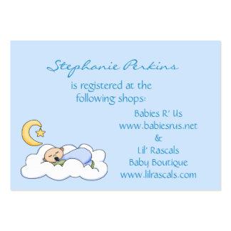 Tarjetas del registro del bebé de los sueños dulce tarjeta de visita