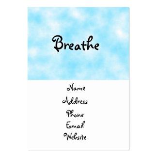 tarjetas del Respirar-negocio Tarjetas De Visita Grandes