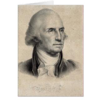 Tarjetas del retrato de George Washington