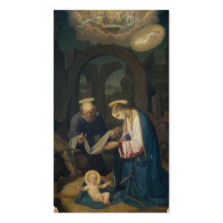 Tarjetas del rezo (cita):  Nacimiento de Cristo Tarjetas De Visita