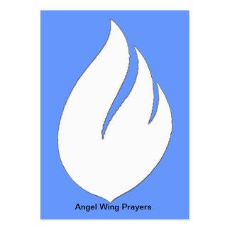 Tarjetas del rezo del ala del ángel tarjetas de visita
