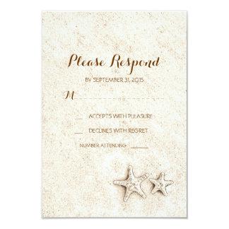 Tarjetas del rsvp del boda de playa invitaciones personales