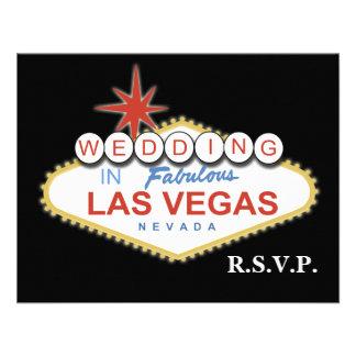 Tarjetas del rsvp del boda de Vegas Anuncios