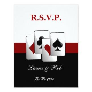 """Tarjetas del rsvp del boda de Vegas Invitación 4.25"""" X 5.5"""""""