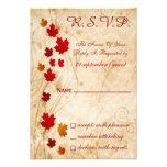 tarjetas del rsvp del boda del marrón del otoño de