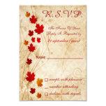 tarjetas del rsvp del boda del marrón del otoño de anuncio personalizado