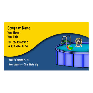 Tarjetas del servicio de la piscina tarjetas de visita