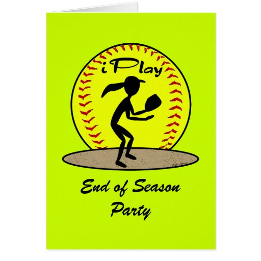 Tarjetas del softball de Fastpitch