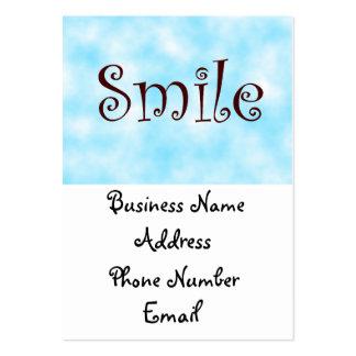 tarjetas del sonrisa-negocio tarjetas de visita grandes