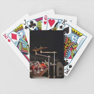 Tarjetas del tambor rojo barajas de cartas