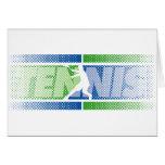 Tarjetas del tenis en diversos diseños