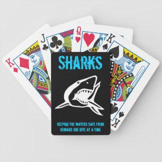 Tarjetas del tiburón barajas de cartas