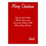 Tarjetas del tío de las Felices Navidad