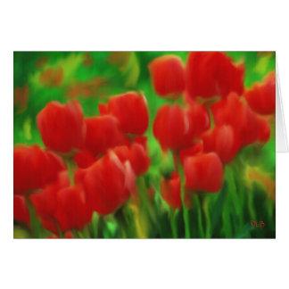 Tarjetas del tulipán