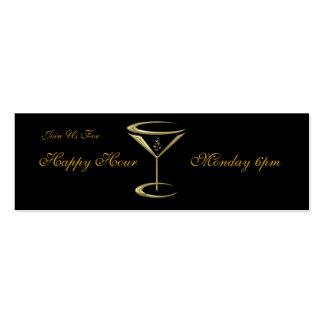 Tarjetas del vidrio de Martini del negocio de la h Tarjetas Personales