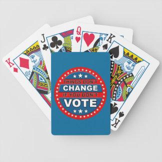 Tarjetas del voto baraja