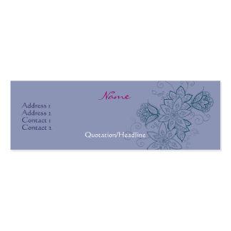 Tarjetas delgadas del perfil del tatuaje del tulip tarjetas de negocios