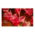 Tarjetas delicadas de la flor tarjeta de visita