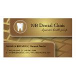 Tarjetas dentales/de general Dentist de visita
