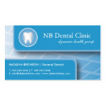 Tarjetas dentales/del ortopedista de visita