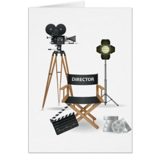 Tarjetas determinadas del director de película