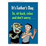 Tarjetas divertidas del día de padre: Relájese